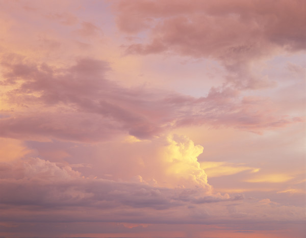 Cumulonimbus clouds at sunset