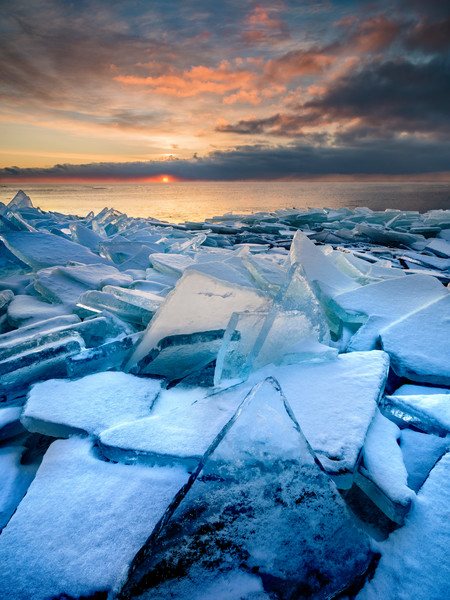 Shattered Ice along Lake Superior