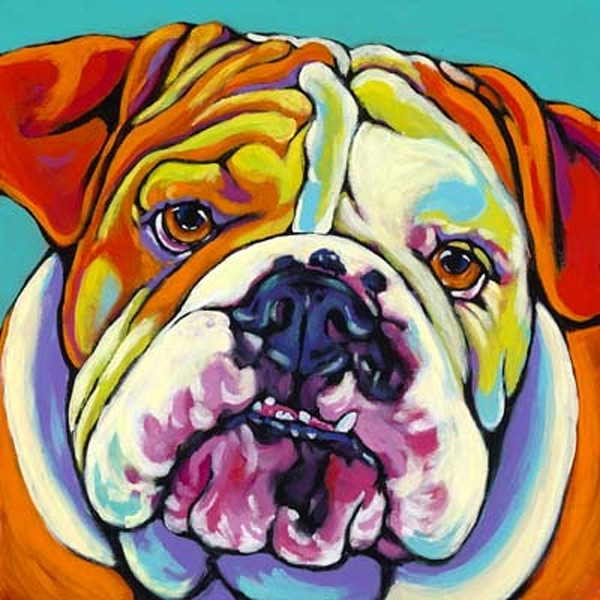 dogs, dog art, canine prints, colorful dog prints