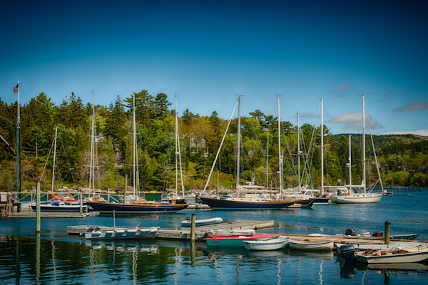 Sailboats in Southeast Harbor Fine Art Photograph | JustBob Images