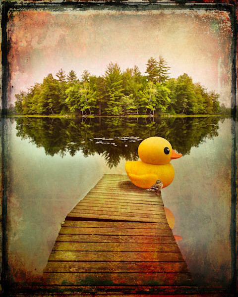 Rubber Duck and Duck on Dock