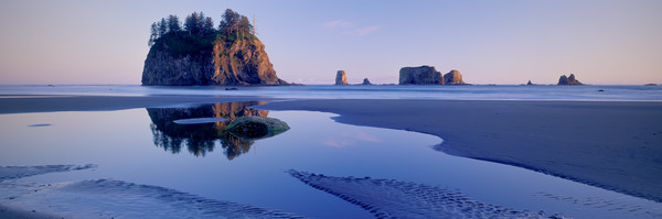 Fine art print of sea stacks on the coast at 2nd Beach, Olympic National Park, Washington