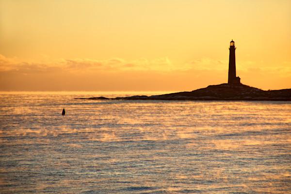 Lighthouse Sea Smoke Twinlights Sunrise Northlight Thacher Island