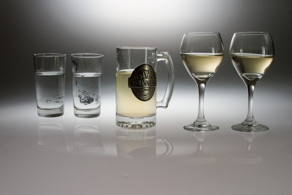 Fine Art Photographs of Drinking Glasses With Reflections by Michael Pucciarelli