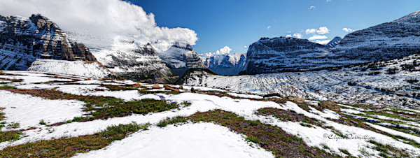 Panorama View at the Top of Logans Pass