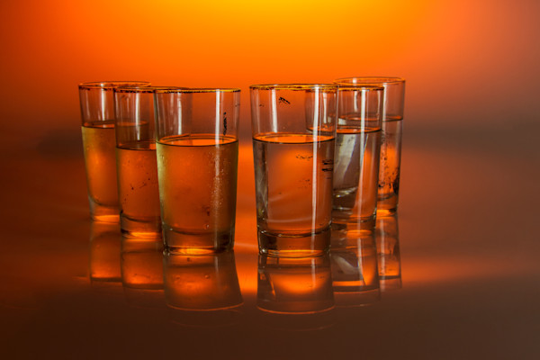 A Fine Art Photograph of Glass Cups by Michael Pucciarelli