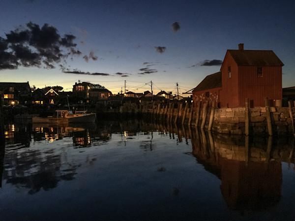 Rockport Harbor Night, Motif 1