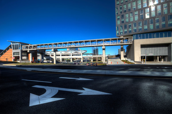 Fine Art Photographs of Tyson's Metro Entrance by Michael Pucciarelli