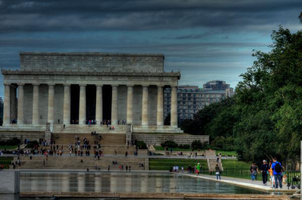 Fine Art Photograph Jefferson Memorial  Reflection by Michael Pucciarelli