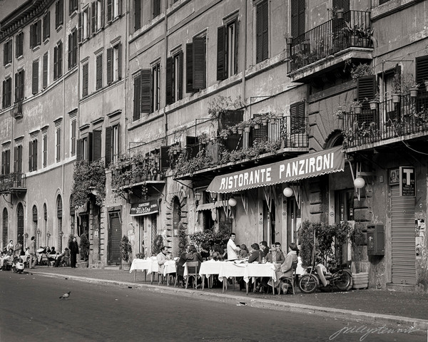 White Tablecloth, Rome, 1980