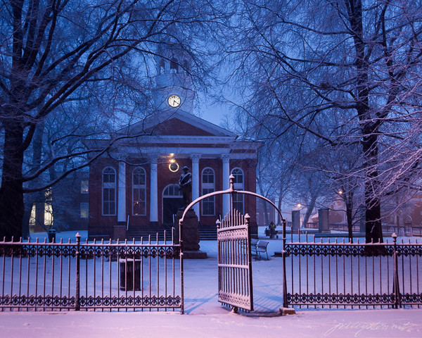 Winter Twilight, Leesburg Courthouse