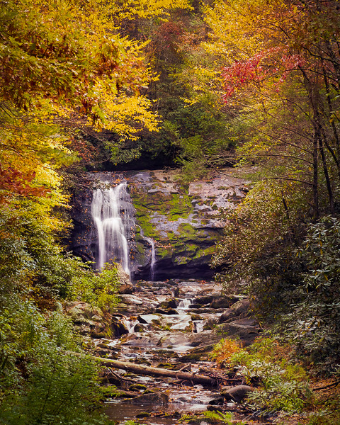 Meig's Falls in an Autumn Frame