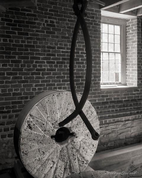 Millstone, Crane, Window