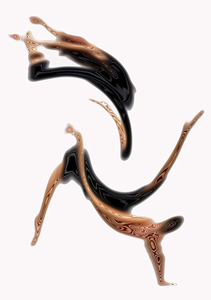 Abstract of Dancers created by Arthur Jacob