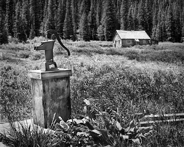 Americana photograph: No Place Like Home, Crested Butte, Colorado-bw