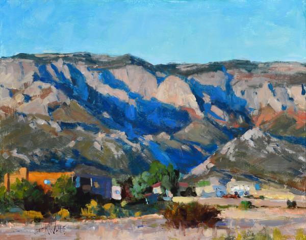 desert mountain painting Wallis