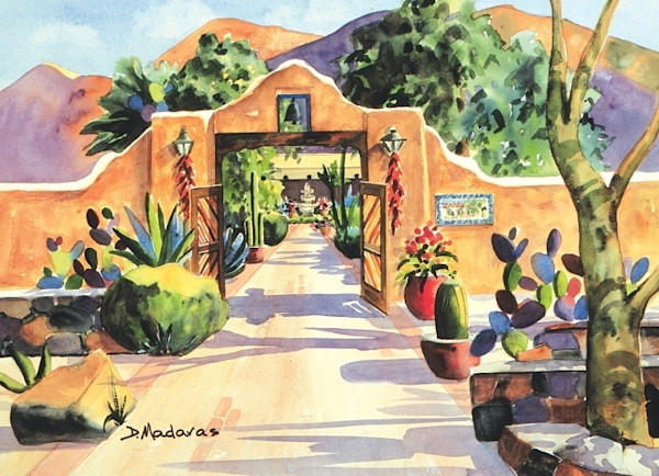 Southwest Art | Tucson Art Gallery | Hacienda Gate II Print