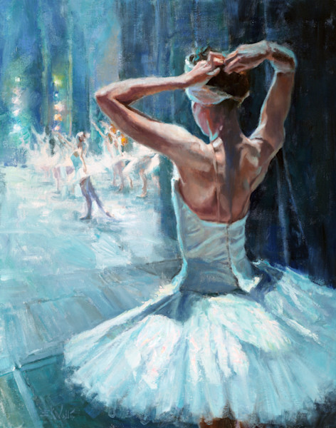 Ballet dancer painting Wallis