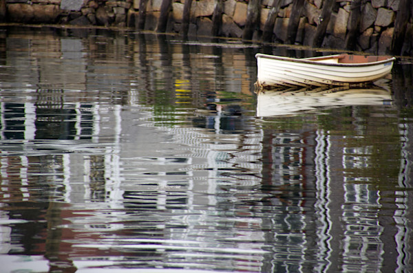 Boat, Reflections, Ripples, Harbor, Skiff