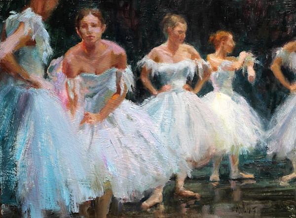 Ballet original oil painting by Eric Wallis