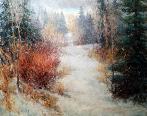 Winter landscape painting Wallis