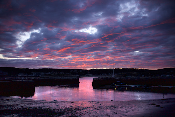 Purple Clouds, Sunet, Rockport, Old Harbor
