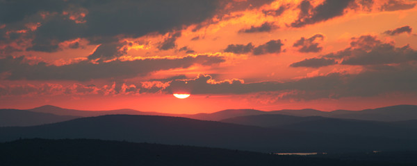 Maine Mountains, Sunset, Panorama
