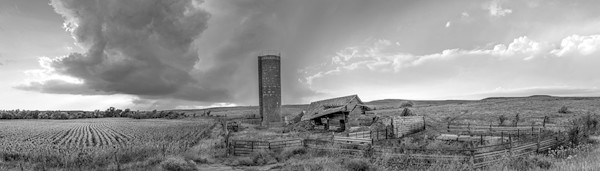 Derelict Barn, the Kansas Flint Hills - bw