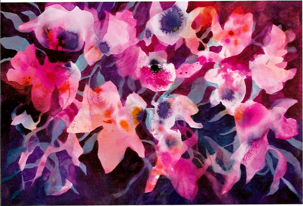 original abstract contemporary floral painting