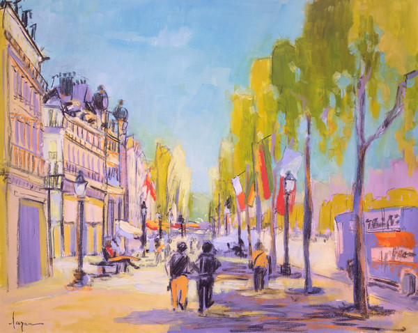 Morning in Paris | French Architecture Painting