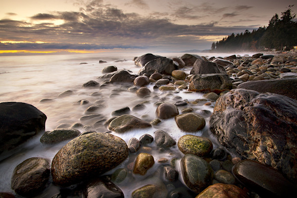 Misty Waters And Rocks In Roberts Creek