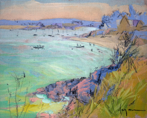 Boat Paintings by Dorothy Fagan | Harbor Views, French Coast