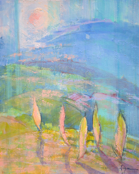 Morning Dance | Tuscan Sunrise Dream Painting