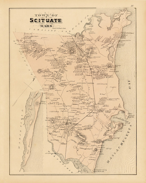 Scituate Town Map 1879