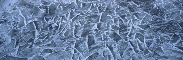 Fractured ice abstract, St. Lawrence River, Montreal, Quebec, Canada