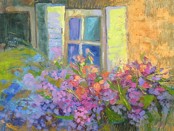 Blooming Sisters   Original Oil Painting by Dorothy Fagan