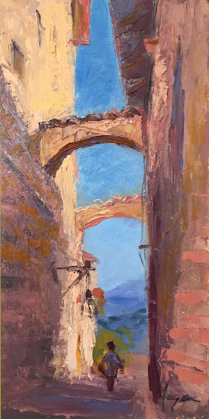 Passage | Assisi Village Architectural Painting