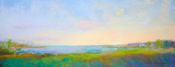 New Point Perfection | Radiant Pastel Landscape Painting
