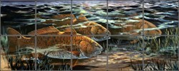 Redfish Tile Art