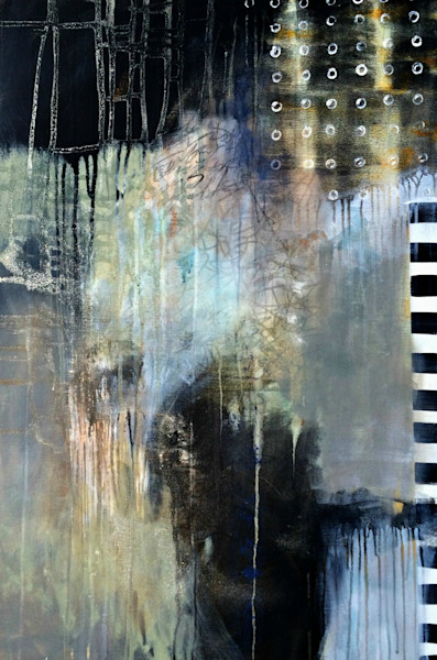 Artist Judy Jacobs creates colorful, fun abstract and mixed media paintings with a soft sense of atmosphere.