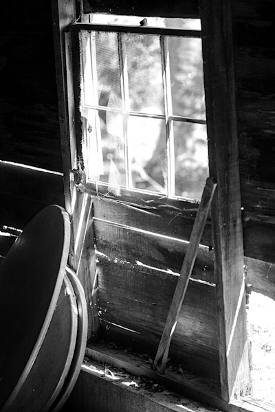 Barn Window - bw