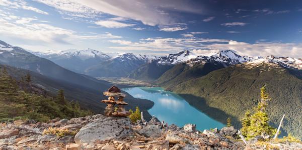 Inukshuk Over Cheakamus Lake - Whistler