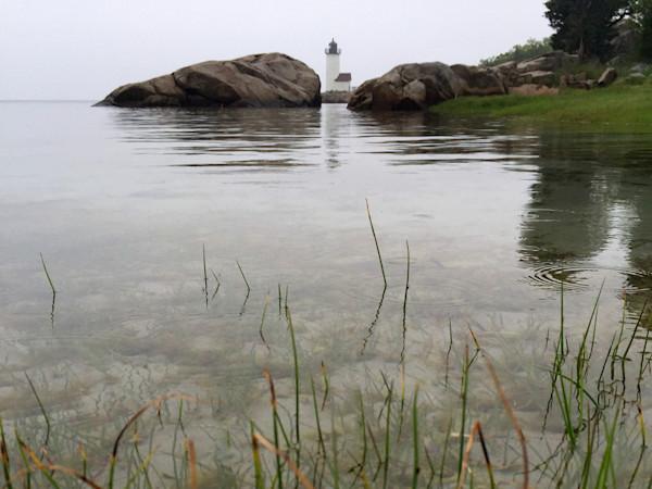 Lighthouse, Rain, Fog