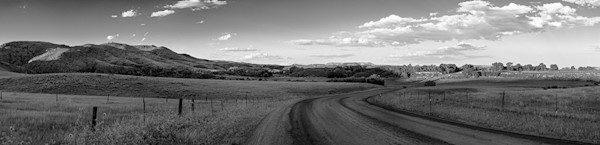 Ranch Road, Northern Colorado - bw