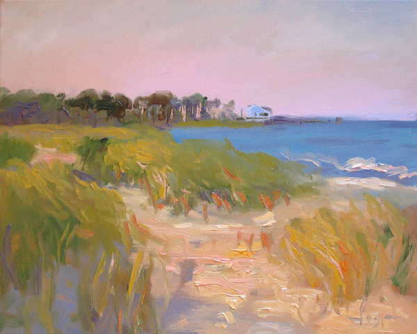 House on the Point | Plein air Beach Landscape Painting