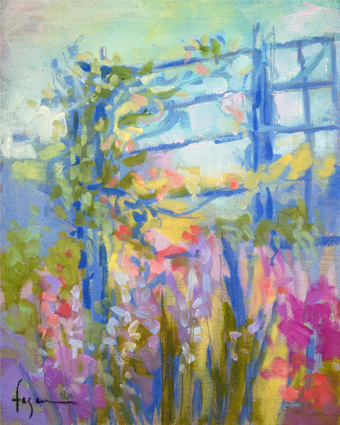 Giverny Inspired Paintings & Canvas Prints by Dorothy Fagan