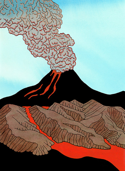 Cloud Of Steaming Lava