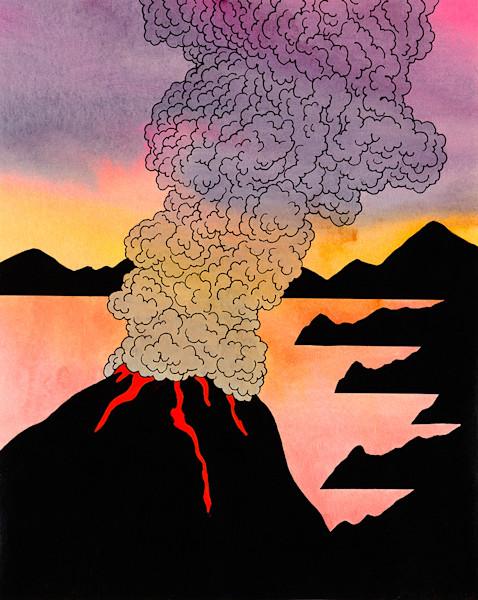 Volcanoe With Smoke