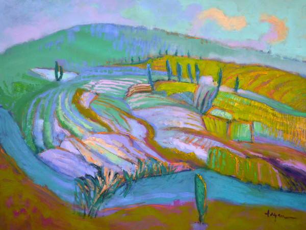 Tuscany Landscape Paintings by Dorothy Fagan