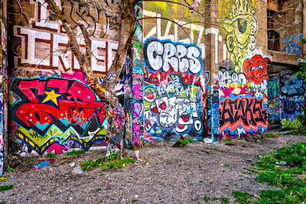 Wall of Graffiti #1 Fine Art Photograph | JustBob Images